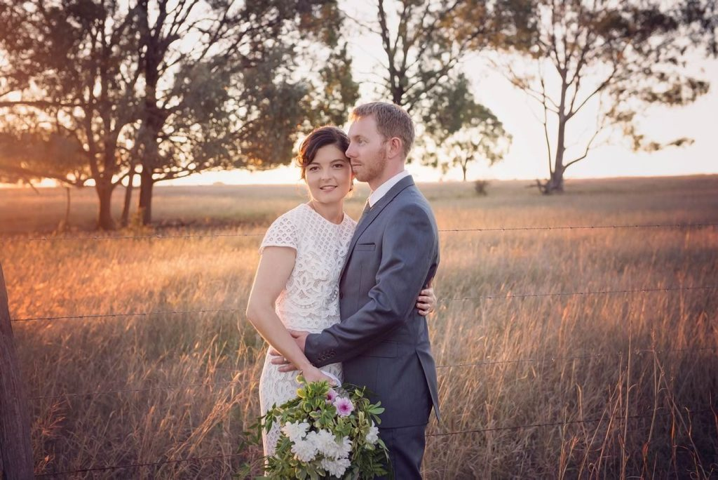 Francie Benecke and Mick Norman were married on June 6 at Francie's parent's property in Monto.