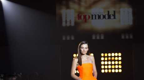 Australia's Next Top Model winner Brittany Beattie pictured during the show's grand final.