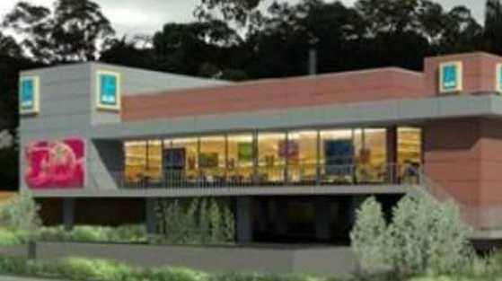Artistic representation of the proposed Aldi store in Gladstone.