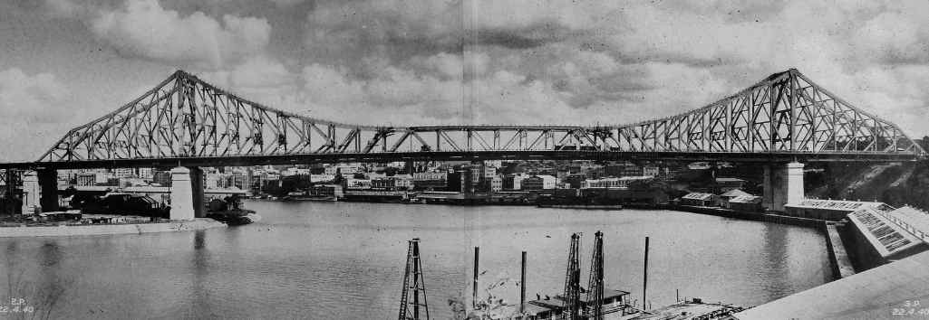 HISTORIC DAY: A photo of the Story Bridge taken in 1940.