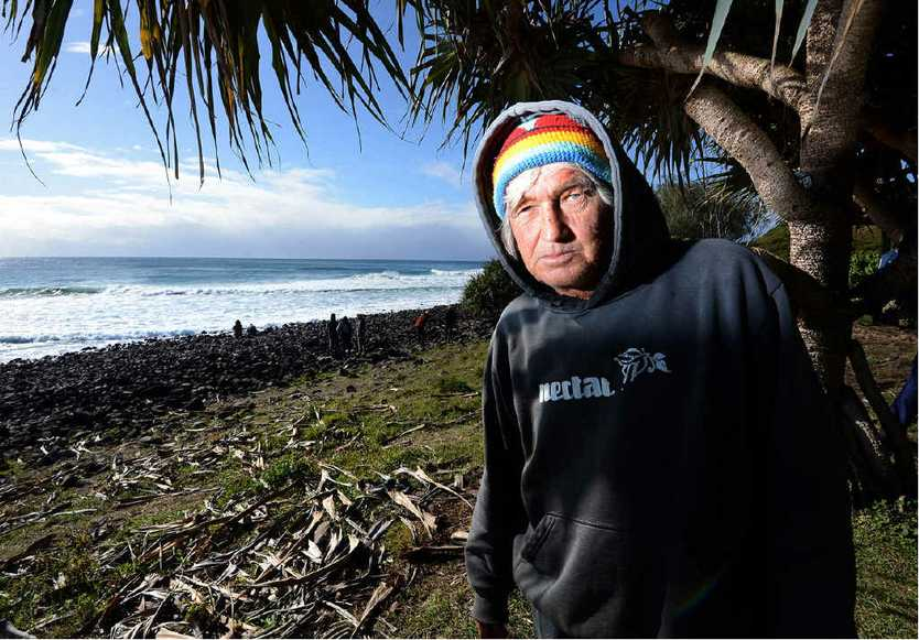 WITNESSES: Chris Brock of Lennox Head saw the shark incident with Michael Hoile at Lennox Head. Inset is Robin Mather.