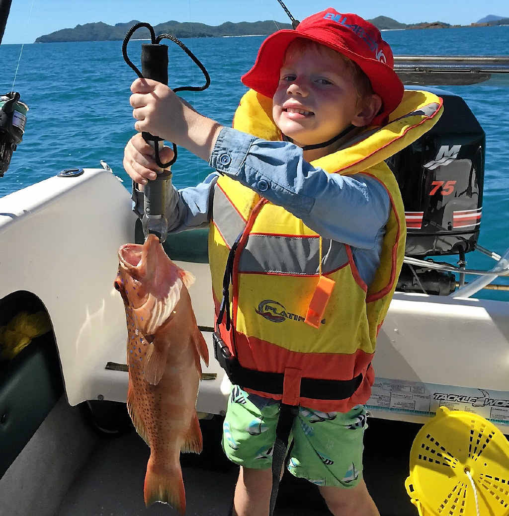 Noah Allen, fishing the Smith group of islands, was happy with his lovely fish.