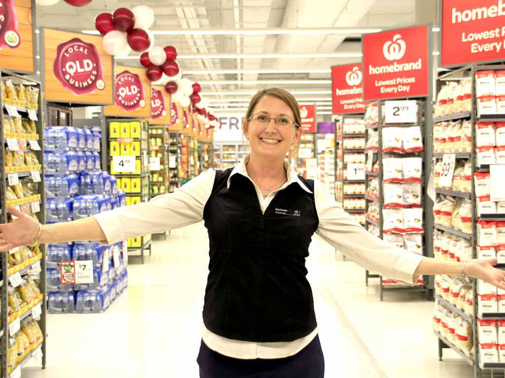 SERIOUS INVESTMENT: Store manager Racheal Molia celebrates the grand opening of the Woolworths Big Top store.