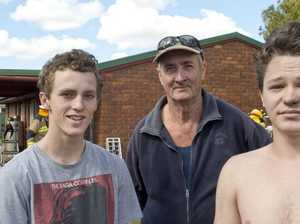 Neighbours rush to save house from flames