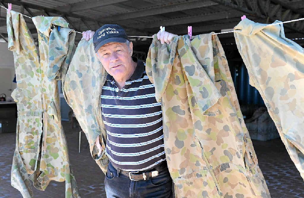 Bob Davis, the chief training officer Operation Hard Yakka at Susan River.