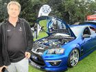 PRIZED POSSESSION: Phil Farlow with his 2010 Holden Clubsport Commodore at the Muscle on the Mountain annual car show at Maleny Showgrounds.
