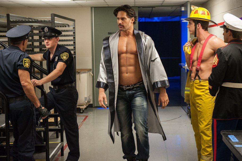 Joe Manganiello in a scene from the movie Magic Mike XXL. Supplied by Warner Bros.