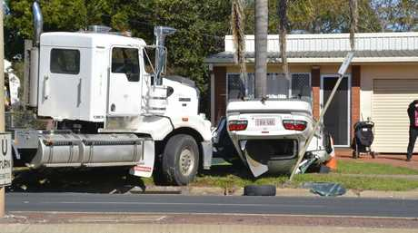 A man is critical after this crash in Wilsonton, Toowoomba.