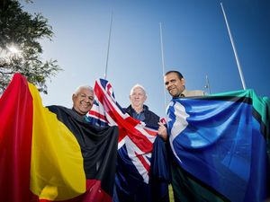 Flags go up at Gallipoli Place for NAIDOC