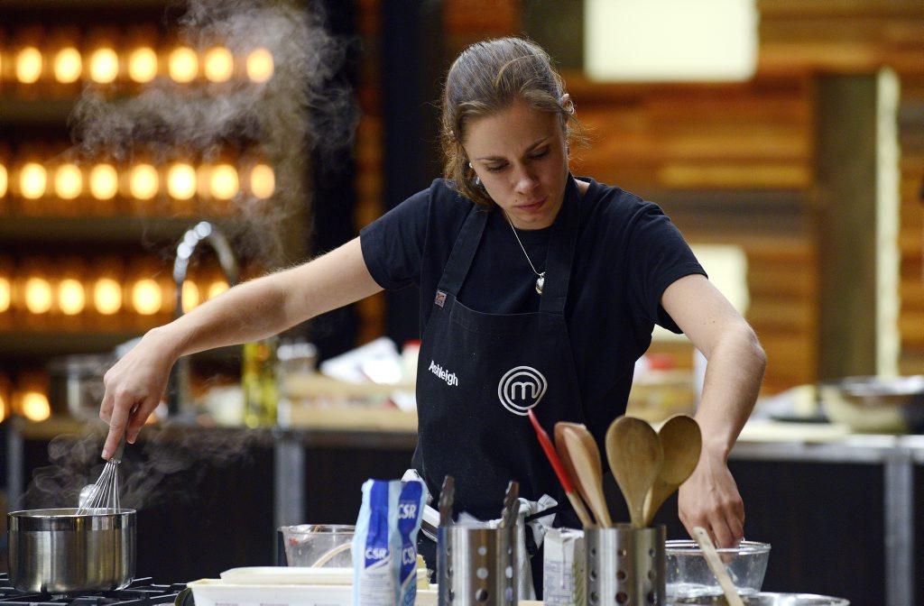 MasterChef Australia contestant Ashleigh Bareham pictured during last night's pressure test.