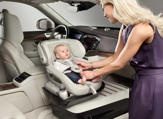 Volvo's Excellence Child Seat Concept as part of its Excellence Lounge Console Concept in its new XC90 SUV. Photo: Contributed