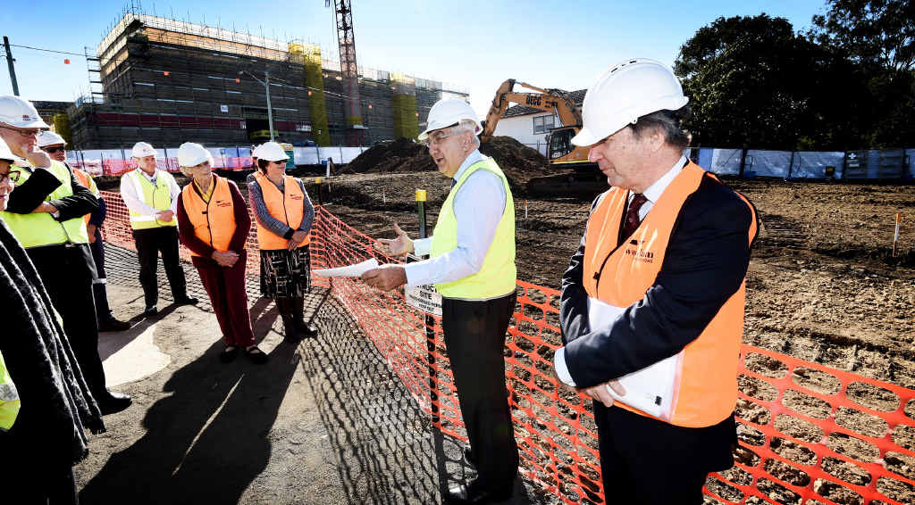 PLACE TO PARK: NNSW Local Health District Chief Executive Christopher Crawford, and Lismore MP Thomas George look over the new carpark at Lismore Base Hospital.