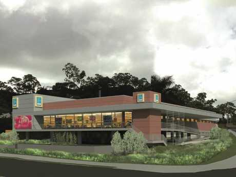 An artist's impression of how the Aldi store at West Gladstone will look.
