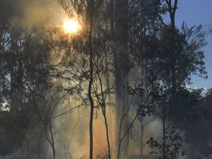 Bushfire's smoke so dense it set off home smoke alarms