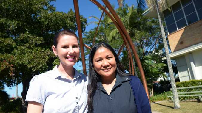 CONGRATULATIONS: Bundaberg registered nurses Antoinette Hollett and Zaina Glynn have each been awarded a nursing scholarship to undertake advanced training which will lead to higher nursing qualifications and ultimately help improve the well being of local patients. Photo: Max Fleet / NewsMail