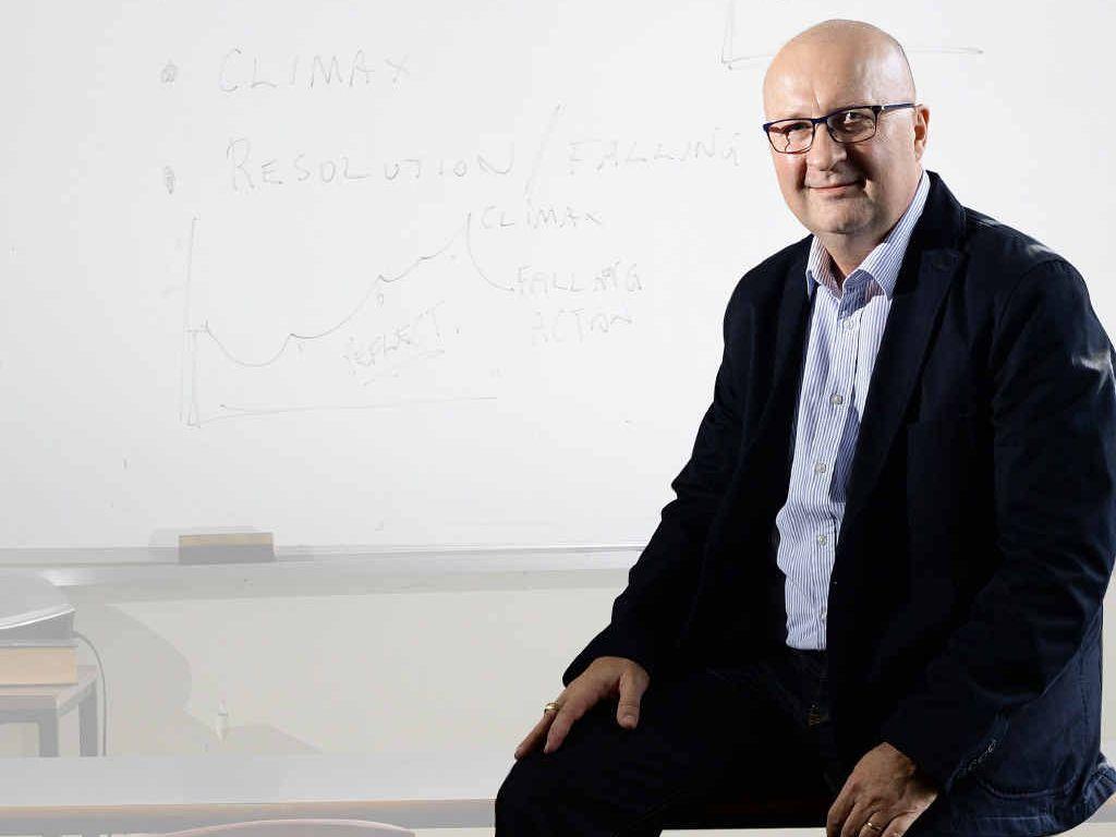 IDEAS MAN: Ipswich Grammar School teacher John Acutt presented writing tips at a national literacy conference in Canberra.