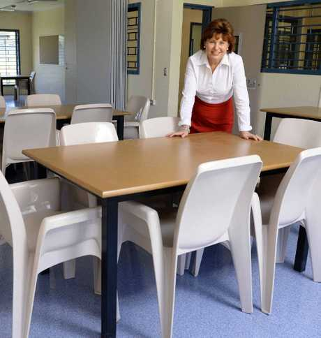 JAILHOUSE ROCKS: Corrective Services Minister Jo-Ann Miller inside one of the educational training rooms at the Borallon prison.