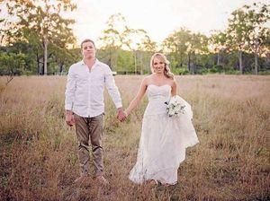 Wedding bells ring at couple's Burua property