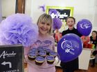 PURPLE POWER: Alowishus owner Tracey McPhee and staff are decorating everything purple to raise awareness for the Relay for Life.