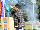 NAIDOC flag raising ceremony at the Yamanto Police Station. Henry Thompson conducted the Welcome to Country and NAIDOC speech. Photo: David Nielsen / The Queensland Times