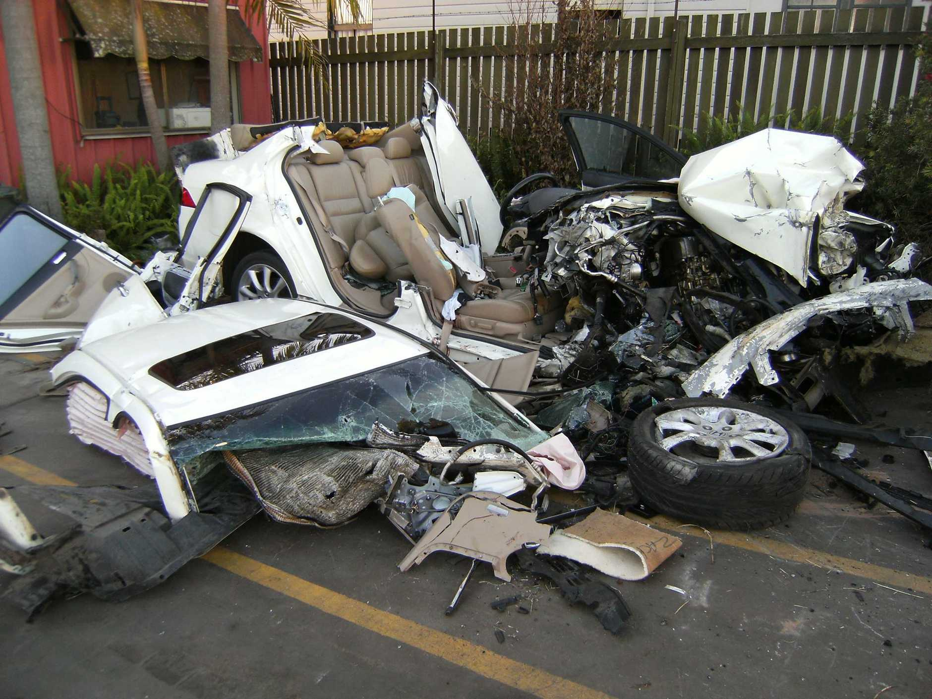 One of the graphic photos of vehicles involved in fatal crashes posted on 1300Towing's Facebook page.