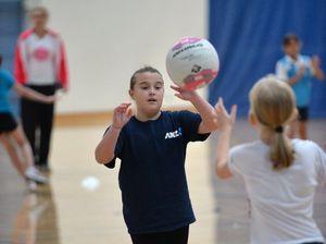 Junior netball with Firebirds