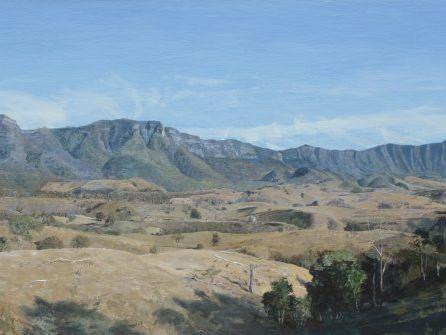 Denis Brockie's winning painting inspired by Cunninghams Gap.