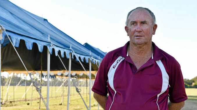 ALMOST HERE: Queensland Touch general manager of operations Gary Madders at the Tavistock St fields ahead of the Junior State Cup.