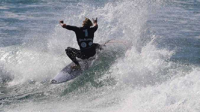 TOP DOG: Cody Robinson on his way to taking out the World Surf League Junior Qualifying Series division of the Oz Grom Open at Lennox Head.