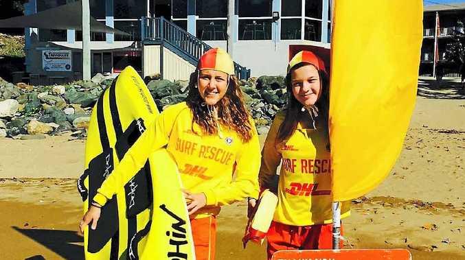Sarah Bishop and Breeonie Dodson at the Sarina Surf Lifesaving Club.