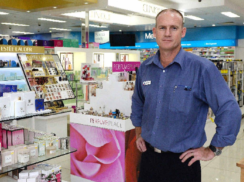 TOUGH DECISIONS: Terry White Chemist owner Andrew McMurtrie says the thefts affect businesses' ability to help the community.