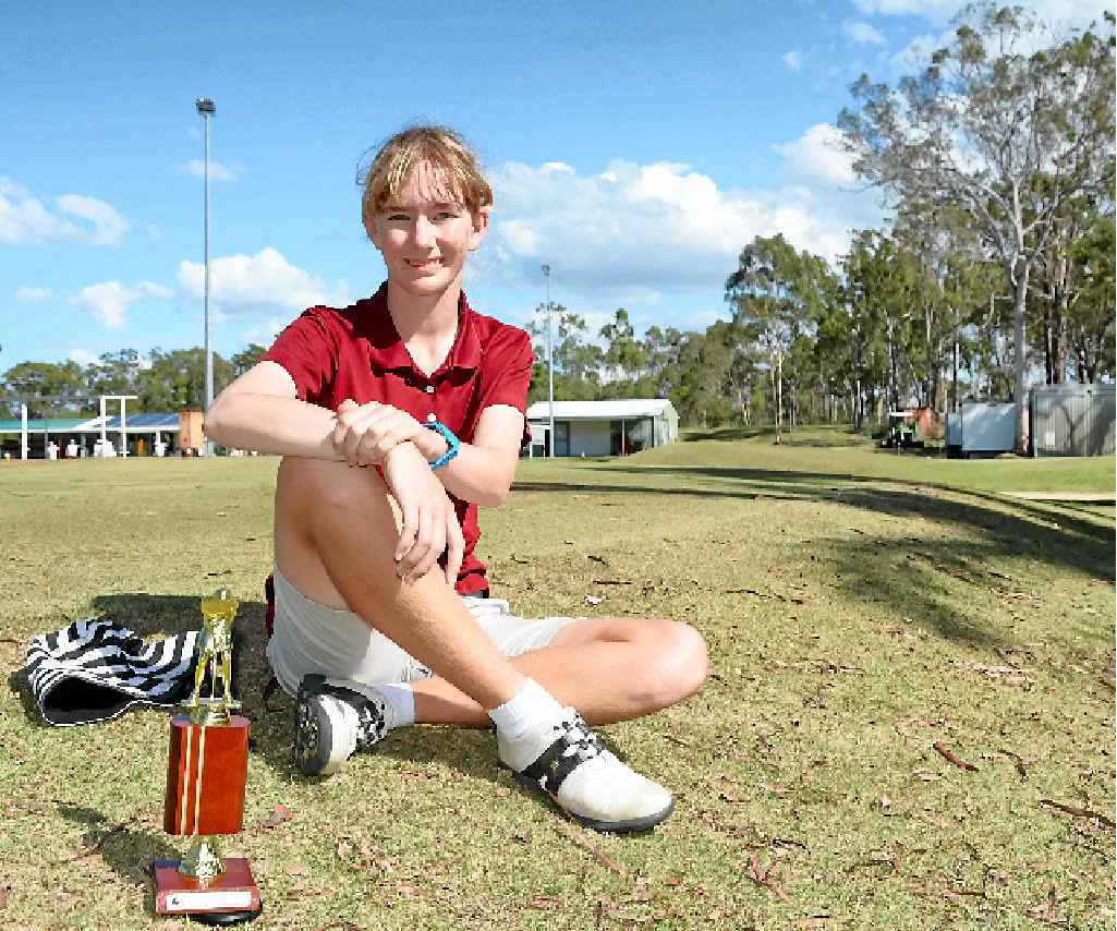 TOP SWING: Morgan Lewis was excited to compete in her first Bargara Junior Classic, recording a result of 84/79 on the first round.