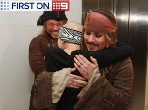 Johnny Depp drops in to Lady Cilento Children's Hospital
