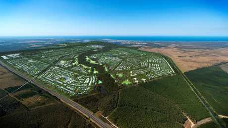 CALOUNDRA SOUTH: Aura will have a city centre roughly the size of the Sydney CBD and a total land area of 23 sq km.