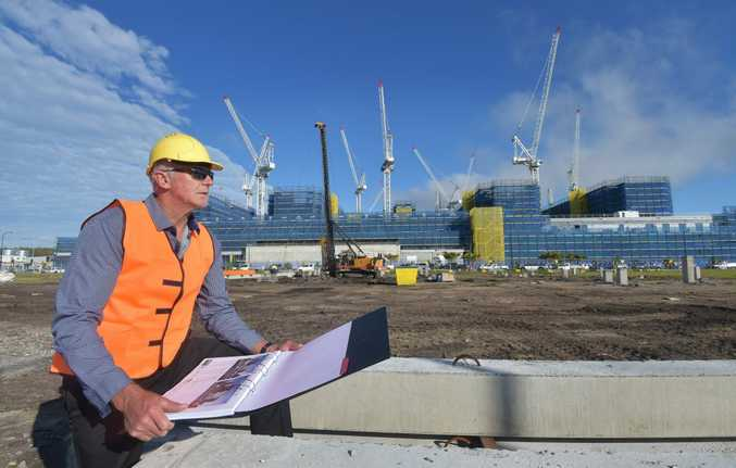 RGD Constructions have been landing a lot of big local jobs, particularly around the new hospitals at Kawana. Pictured at the site of the new multi-level carpark for the Sunshine Coast University Public Hospital is RGD managing director, Ron Grabbe. Photo: Brett Wortman / Sunshine Coast Daily
