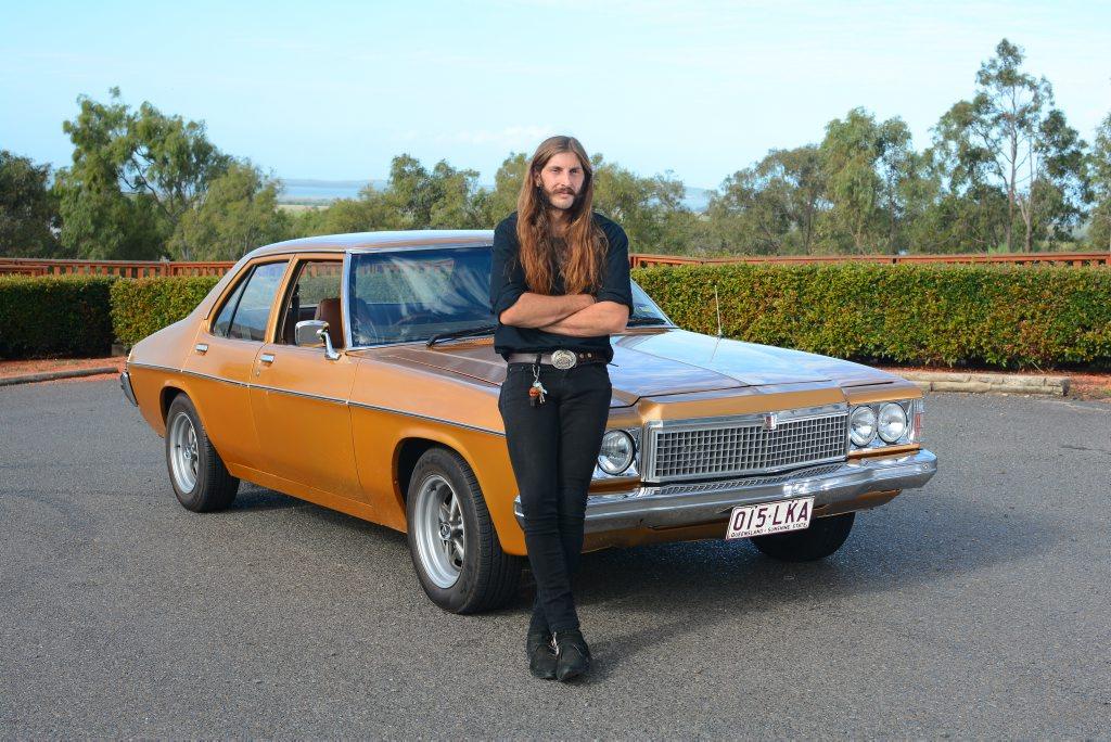 Adam Shiberras and his 1976 HX Holden.