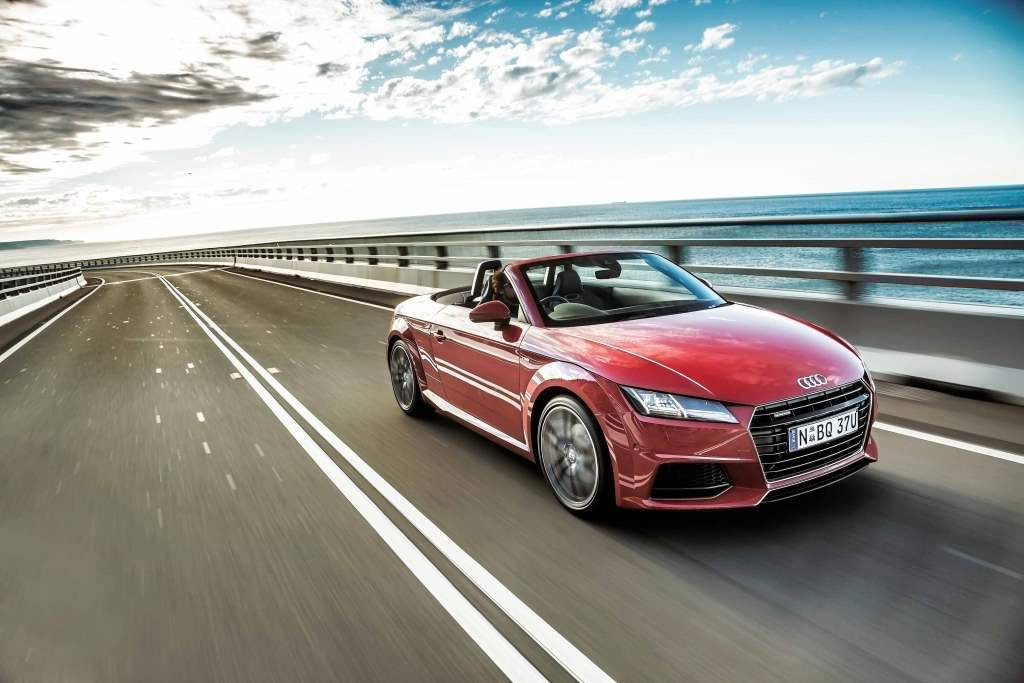 DREAM DRIVE: Great fun turbo four-cylinder combines with head-turning style to give Audi's new TT Roadster mighty appeal