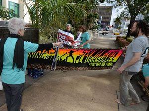 Peace Pilgrim court protest