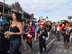 Around 250 people got together under grey skies for this year's NAIDOC Week march through Byron Bay.