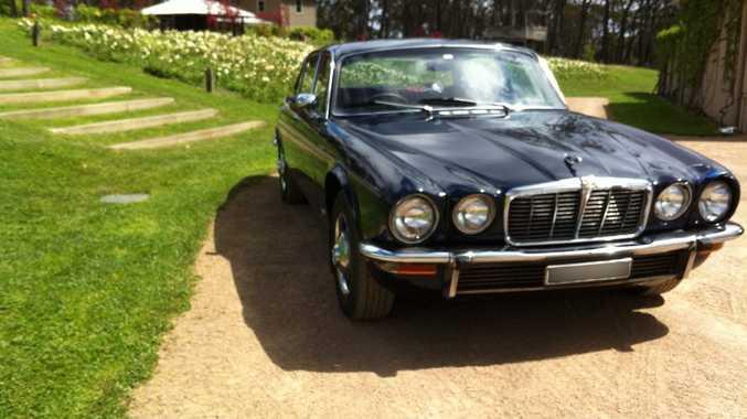 CLASSIC BRIT: 1977 Jaguar XJ 4.2 is Shanon's current ride - we salute his bravery