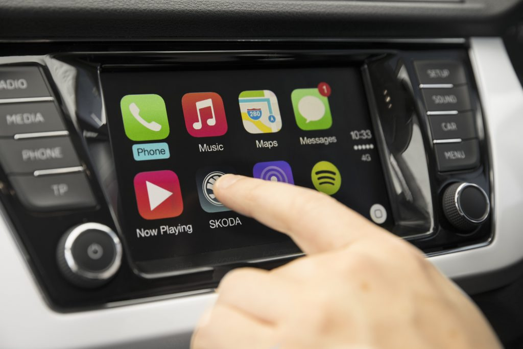 WELL CONNECTED: SmartLink system integrates Apple CarPlay and Android Auto to access apps, navigation, contacts and text messages through the 6.5-inch touchscreen