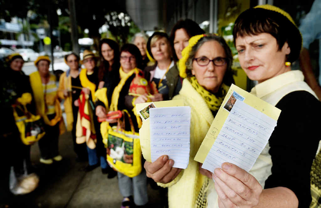 Members of the Knitting Nannas Against Gas have received threatening letters which crudely attack the widely known protestors.