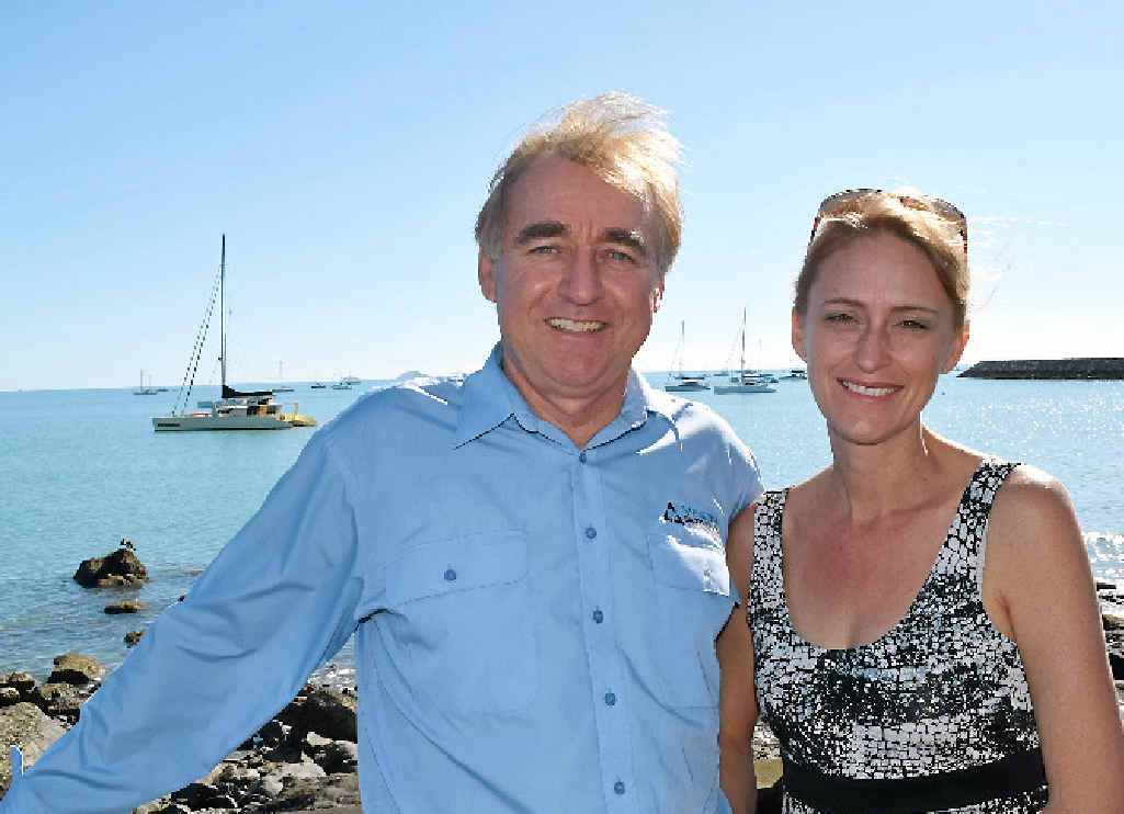 SETTING SAIL: Brian and Linda Forrester leave for the Solomon Islands.