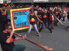 A large crowd joined a march through Byron Bay to celebrate reconciliation as part of Byron Shire's NAIDOC events.