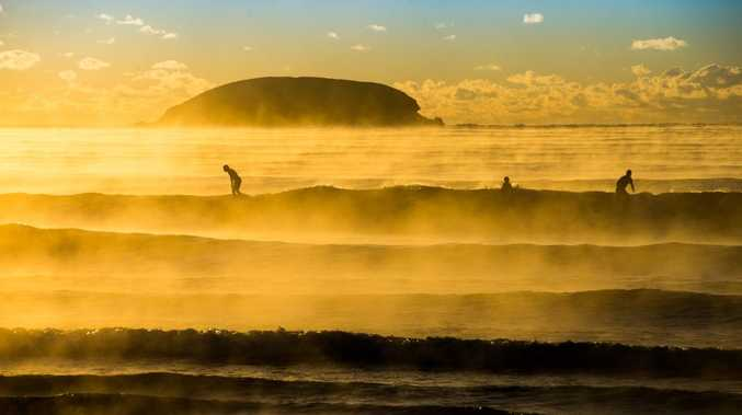Cold fronts expected to drop temperatures considerably this weekend may even have hardy surfers questioning whether or not to catch a wave.