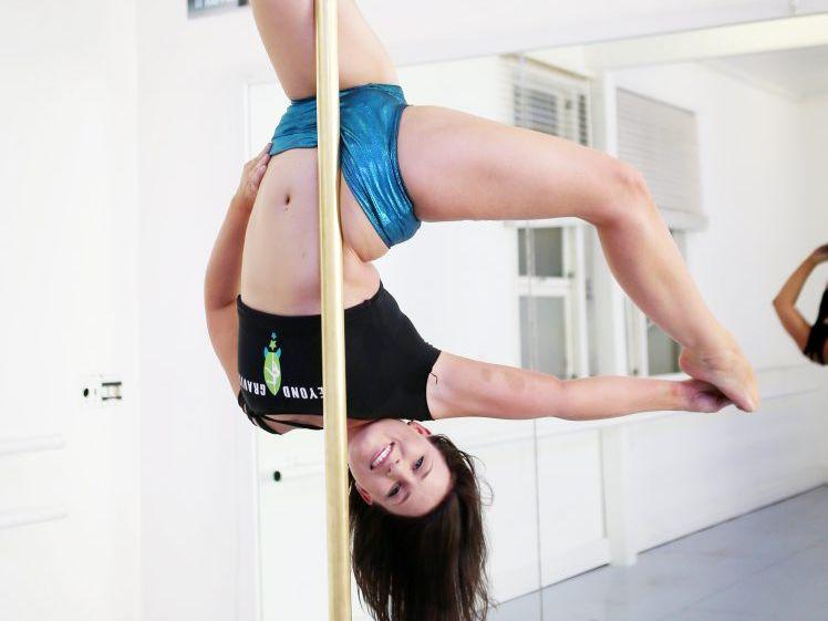 Gladstone pole dancer Jessica Thalborne.