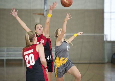 USQ lost to Griffith 56-53 in the basketball semi-final. Griffith went on to win the gold in a one-sided final.