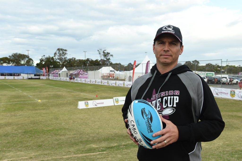 Queensland Touch CEO Jamie O'Connor. Photo Matthew McInerney / Fraser Coast Chronicle