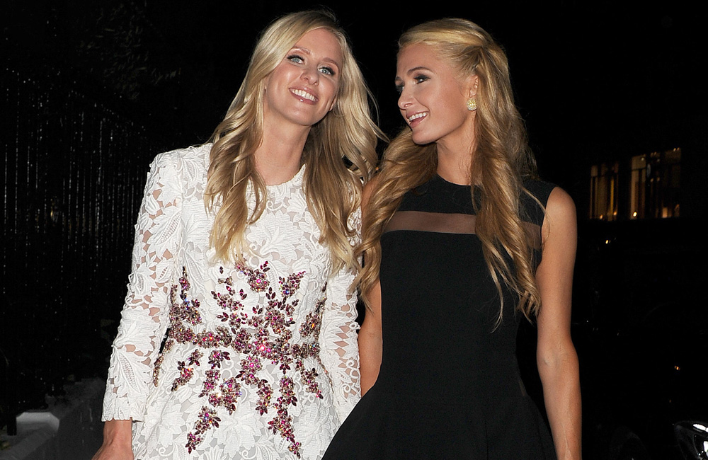 Paris Hilton with her sister Nicky