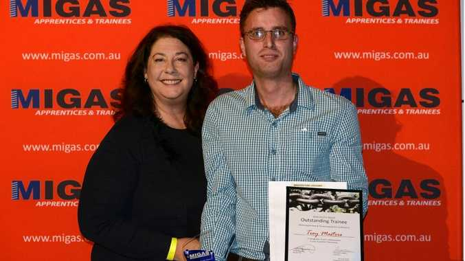 Just six weeks into his new traineeship and Troy Masters has already won a state-wide award.